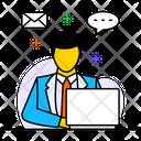 Online Assistance Online Communication Coordination Icon
