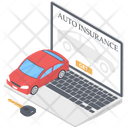 Online Auto Insurance Online Auto Protection Online Insurance Icon
