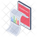 Online Statement Bank Statement Balance Statement Icon