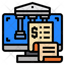 Computer Banking Monitor Icon