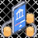 Online Money Transfer Online Bank Transfer Banking App Icon