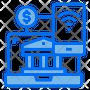 Laptop Bank Mobile Icon
