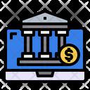 Laptop Coin Bank Icon