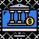 Computer Coin Bank Icon