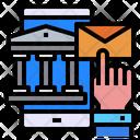 Bank Mobile Hand Icon
