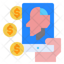 Mobile Screen Coin Icon