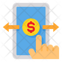 Online Banking Mobile Transfer Icon
