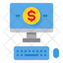 Money Computer Banking Icon