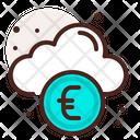 Online Banking Cloud Euro Online Saving Icon