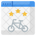 Online Bicycle Booking Icon