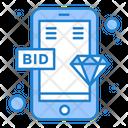 Online Bid Icon