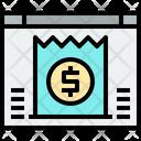 Online Bill Online Invoice Invoice Icon