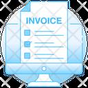 Online Invoice Digital Receipt Online Voucher Icon