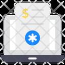 Online Bill Digital Invoice Voucher Icon