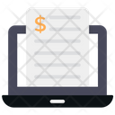 Online Bill Cargo Bill Receipt Icon