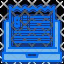 Laptop Bill Invoice Icon