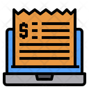 Laptop Bill Invoice Icon