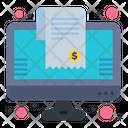 Online Bill Online Invoice Online Receipt Icon