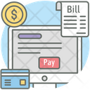 Online Bill Payment Receipt Voucher Icon