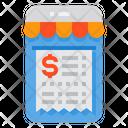 Online Billing Bill Invoice Icon