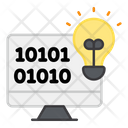 Online Binary Idea Binary Transformation Idea Digital Binary Idea Icon