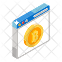 Bitcoin Account Bitcoin Web Bitcoin Website Icon