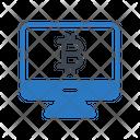 Bitcoin Online Cyrpto Icon