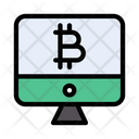 Bitcoin Online Digital Icon