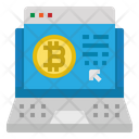 Laptop Bitcoin Digital Icon