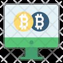Online Bitcoin Bitcoin Coin Icon