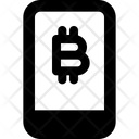 Smartphone Bitcoin Icon