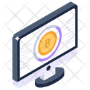 Online Bitcoin Blockchain Webpage Crypto Website Icon
