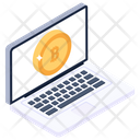 Online Bitcoin Bitcoin Website Electronic Cash Icon