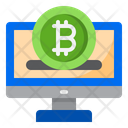 Online Bitcoin Bitcoin Computer Icon
