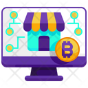 Online Bitcoin Bitcoin Online Cryptocurrency Icon