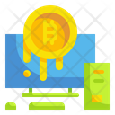Online Bitcoin Bitcoin Cryptocurrency Icon