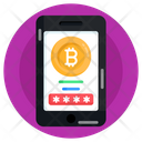 Online Bitcoin Account Icon