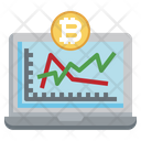 Online Bitcoin Analysis Data Analysis Analysis Icon
