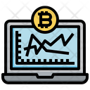 Online Bitcoin Analysis Data Analysis Analysis Icon