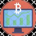Online Bitcoin Analysis Icon