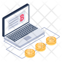 Online Bitcoin Content Icon