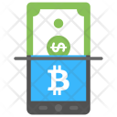 Online Bitcoin Currency Exchange Icon