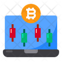 Laptop Bitcoin Icon
