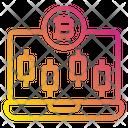 Online Bitcoin Graph Icon