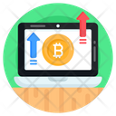 Online Bitcoin Growth Icon