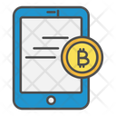 Online bitcoin payment Icon