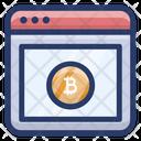 Online Bitcoin Website Icon