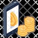 Online Bitcoins Icon