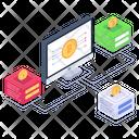 Crypto Tech Online Bitcoins Bitcoin Business Icon