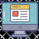 Online Blog Online Article Online Content Icon